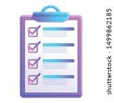 checkboard icon. cartoon of... | Shutterstock .eps vector #1499862185
