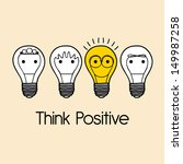 think positive over pink ... | Shutterstock .eps vector #149987258