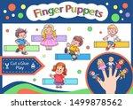 finger puppets. cut and glue...   Shutterstock .eps vector #1499878562