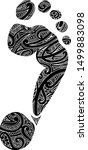 footprint with maori style... | Shutterstock .eps vector #1499883098