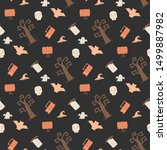 seamless vector pattern with... | Shutterstock .eps vector #1499887982