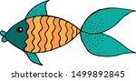 vector iilustration of unusual... | Shutterstock .eps vector #1499892845
