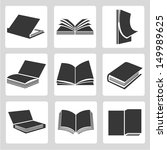 book icons set | Shutterstock .eps vector #149989625