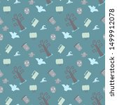 seamless vector pattern with... | Shutterstock .eps vector #1499912078