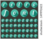 Retro type font, vintage typography, Vector illustration.