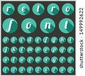 retro type font  vintage... | Shutterstock .eps vector #149992622