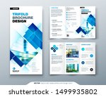 tri fold brochure design with... | Shutterstock .eps vector #1499935802