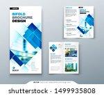 bi fold brochure design with... | Shutterstock .eps vector #1499935808