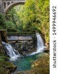 vintgar gorge waterfall in...   Shutterstock . vector #1499946692