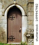Medieval Arched Wooden Backdoor ...