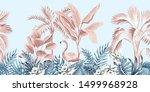 tropical vintage botanical...   Shutterstock .eps vector #1499968928