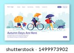 concept of landing page with... | Shutterstock .eps vector #1499973902