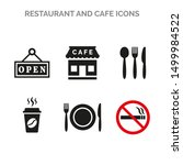 restaurant and cafe icons set... | Shutterstock .eps vector #1499984522