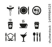 restaurant and cafe icons set... | Shutterstock .eps vector #1499984525