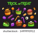 cartoon holiday sweets. spooky... | Shutterstock .eps vector #1499993912