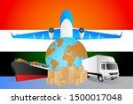 india logistics concept... | Shutterstock .eps vector #1500017048