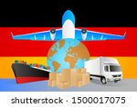germany logistics concept... | Shutterstock .eps vector #1500017075