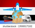 egypt logistics concept... | Shutterstock .eps vector #1500017102