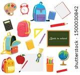 set of different school...   Shutterstock .eps vector #1500030842