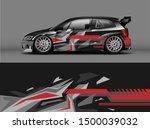 car wrap or decal design.... | Shutterstock .eps vector #1500039032