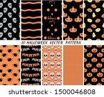 set halloween seamless patterns.... | Shutterstock .eps vector #1500046808