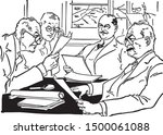 contract negotiations   group... | Shutterstock .eps vector #1500061088