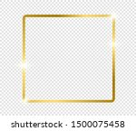 gold shiny glowing frame with... | Shutterstock .eps vector #1500075458