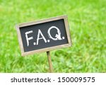f.a.q.   frequently asked... | Shutterstock . vector #150009575