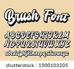 brushpen comic lettering font.... | Shutterstock .eps vector #1500103205