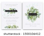 wedding invitations save the... | Shutterstock .eps vector #1500106412