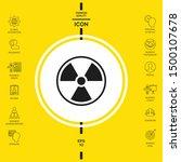 ionizing radiation icon.... | Shutterstock .eps vector #1500107678