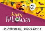 happy halloween trick or treat... | Shutterstock .eps vector #1500112445