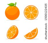 orang fruit. oranges that are... | Shutterstock .eps vector #1500122435
