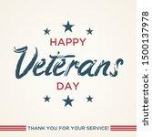 vintage latter happy veterans... | Shutterstock .eps vector #1500137978