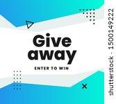 giveaway poster social media... | Shutterstock .eps vector #1500149222