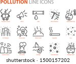 set of pollution icons  such as ... | Shutterstock .eps vector #1500157202