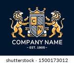 lion heraldry emblem modern... | Shutterstock .eps vector #1500173012