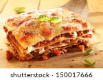 Golden Lasagne With Meat ...