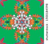 intricate floral design element ... | Shutterstock .eps vector #1500184598