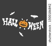 conceptual happy halloween ad... | Shutterstock .eps vector #1500186842