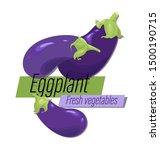 eggplant. fresh vegetables.... | Shutterstock .eps vector #1500190715