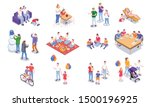 set with family holidays... | Shutterstock .eps vector #1500196925