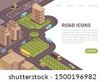 banner road isometric web site...