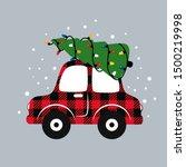 Buffalo Plaid Christmas Car . ...