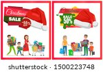 two christmas sale posters... | Shutterstock . vector #1500223748