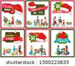 set of christmas sale premium... | Shutterstock . vector #1500223835