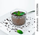 mousse au chocolat with... | Shutterstock . vector #150022886