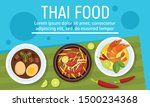 exotic tasty thai food concept... | Shutterstock .eps vector #1500234368