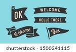 ribbon banner. set of black... | Shutterstock .eps vector #1500241115