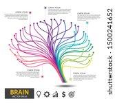 Infographics Brain Tree Design. ...